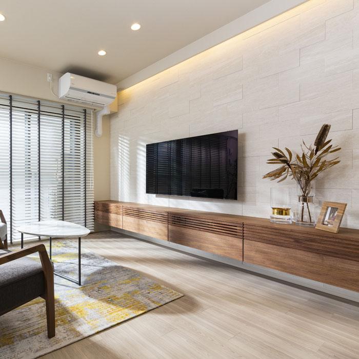 フロートデザインのテレビボード