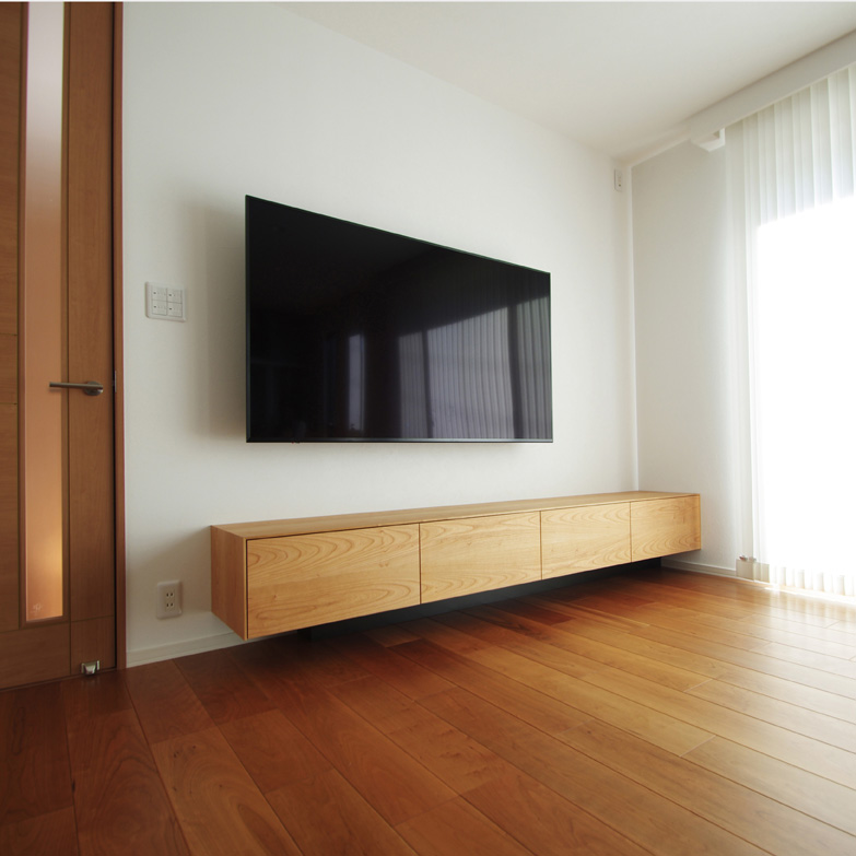 ブラックチェリーのオーダーテレビボード